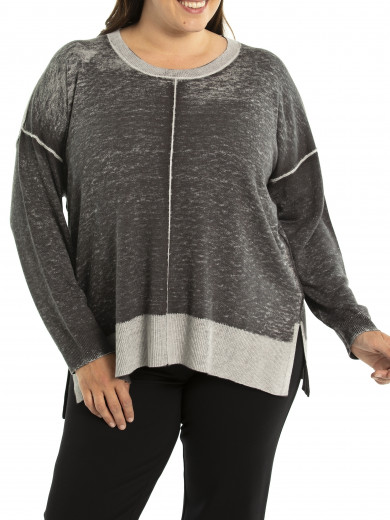 Relaxed Pigment Dye Knit - Plus Size