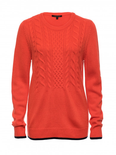 Amber Cable Top Sweater