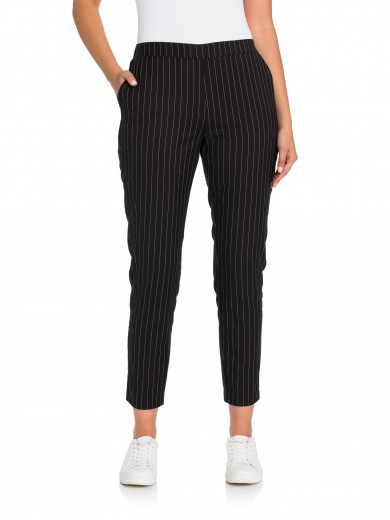 Black Pull On Stripe Pant