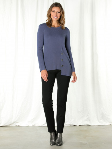 Liberty Blue Eyelet Sweater