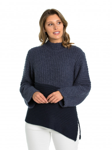Tonal Block Sweater