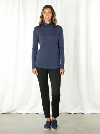Liberty Blue Roll Neck Tee