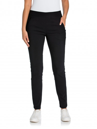 Black Skinny Seamed Pant