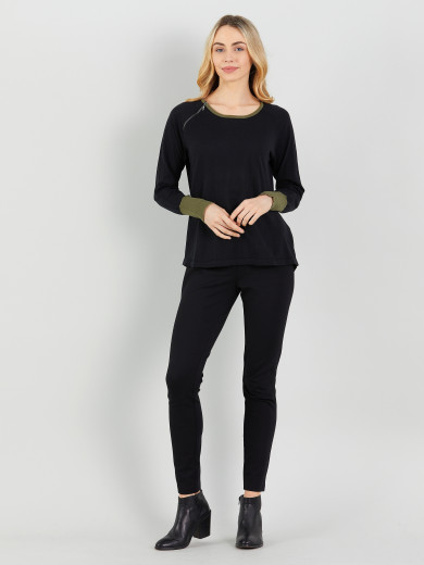 Trim Cuff Sweater