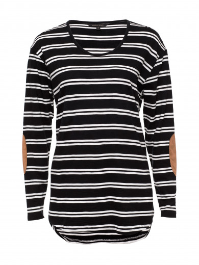 Black Double Stripe Tee