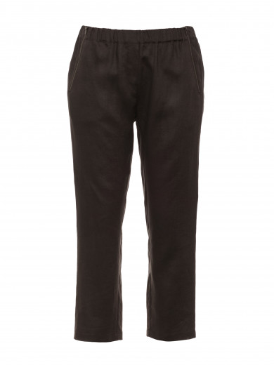 Pebble 3/4 Zipper Linen Pant