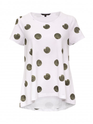 Olive Blotch Swing Tee
