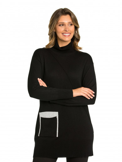 Black Spliced Tunic
