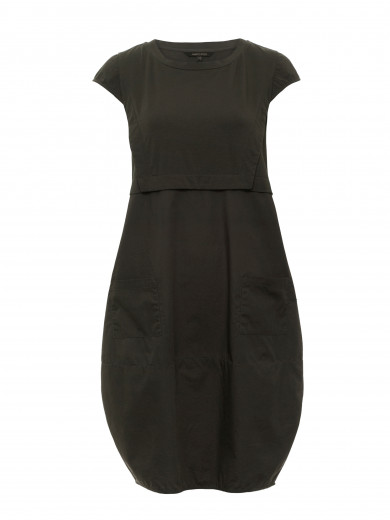 Deep Forest Contrast Dress