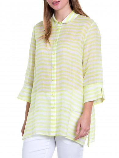3/4 Jaggered Stripe Shirt