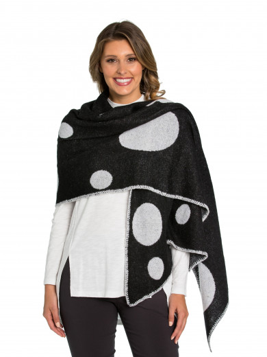 Grey Mix Spot Me Wrap Scarf