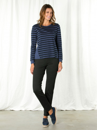 Liberty Blue Stripe Contrast Tee