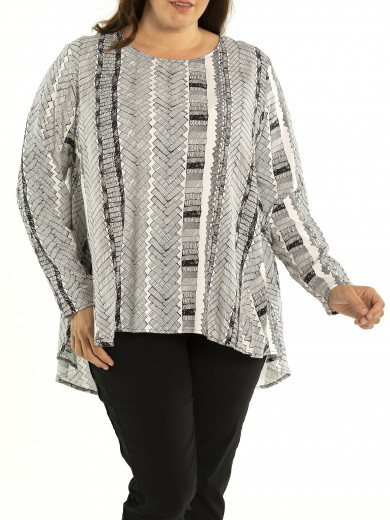 Etch Longline Shirt - Plus Size