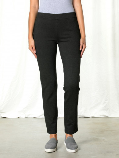 Dark Grey Pull On Ponte Pant