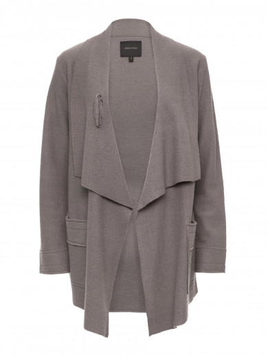 Taupe Drape Detail Coat