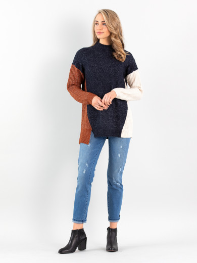 Mixed Spliced Sweater