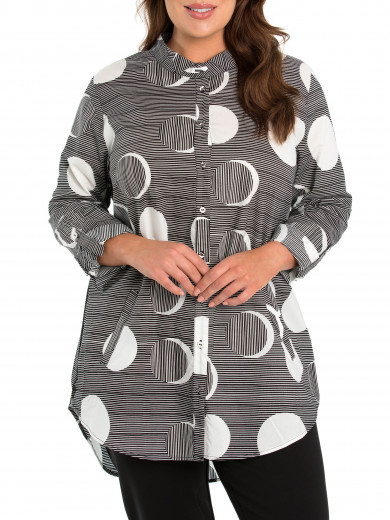 Full Moon Longline Shirt - Plus Size