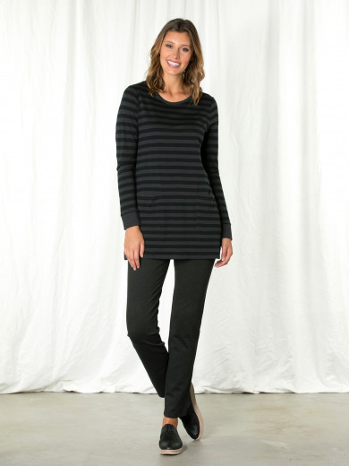 Dark Grey Stripe Tunic