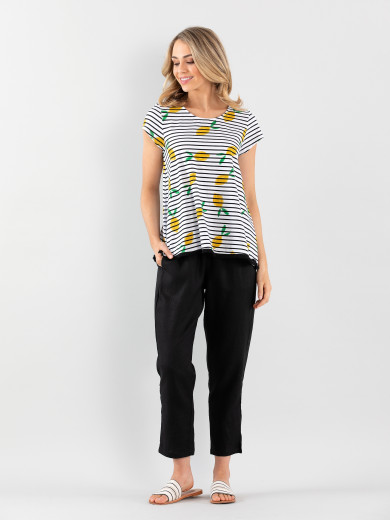 Stripe Lemon Tee
