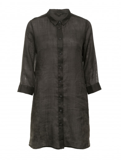 Deep Forest Longline Ramie Shirt