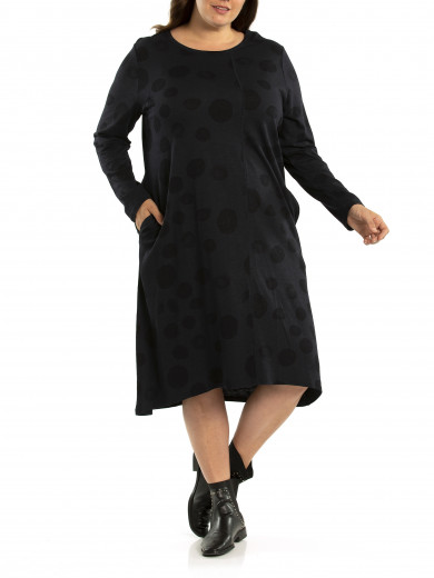 Distress Spot Dress - Plus Size