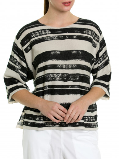 Distressed Stripe Knit