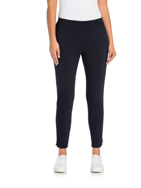 5e0e90d204a8 Navy Panelled Tappered Pant