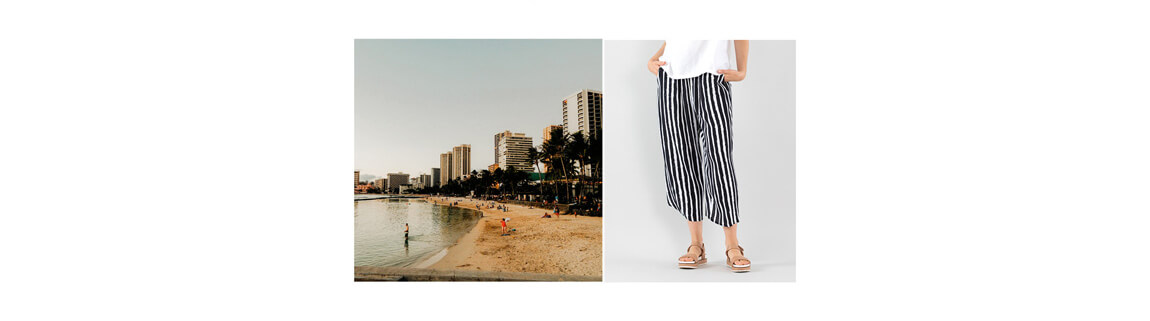 Sea Stripe Drape Pants